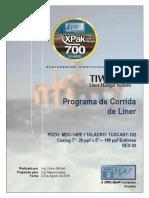 TIW Programa de Corrida de Liner 7''. Pozo MDC-14 RE, RIG-TUSCANY-102 (03.Ago.2018).pdf