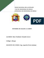 Informe de Salida de Campo Geologia