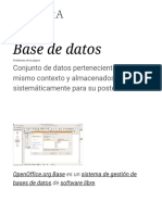 Base de Datos - Wikipedia, La Enciclopedia Libre