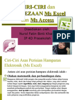 Ciri-ciri Dan Perbezaan Ms Excel Dan Ms Access