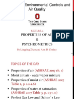 Lecture 2-Air Properties and Psychrometrics
