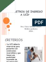 Criterios de Ingreso a Ucip