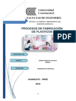 Ingenieria de Procesos Plastico