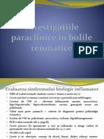 3.Investigatiile Paraclinice in Bolile Reumatice