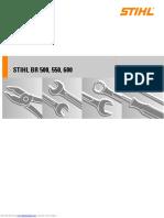 Stihl BR 500 550 600 Service Manual