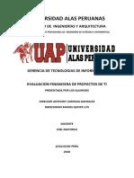Evaluación Financiera de Proyectos de Tecnología de Información