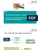 Presupuesto Estatico vs Flexible y Analisis Var