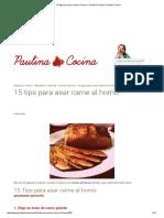 15 Tips Para Asar Carne Al Horno - Paulina Cocina _ Paulina Cocina