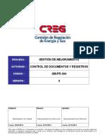 GM-PR-004 Control de Documentos y Registros