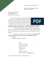 Nota Opción Plan de Estudios de Filosofía Juan Lucía