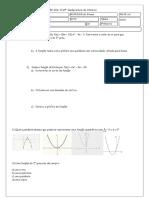 Av- Dependência - Função Do 2º Grau