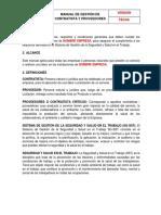 Manual de Gestión de Contratista y Proveedores