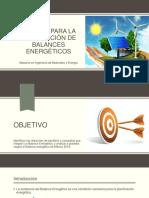 METODO PARA LA ELABORACION DE BALANCE ENERGETICOS
