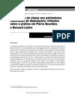 Reflexões Sobre Praticas de Lahire e Bourdieu