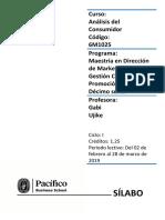 Sílabo Análisis Del Consumidor-Prof. G. Ujike MDMGC16