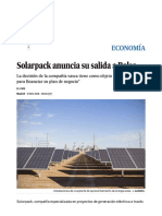 Solarpack Anuncia Su Salida a Bolsa