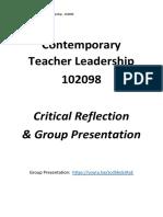 contemporary teacher leadership