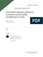 De Simone_Metamall_Espacio Urbano y Consumo en Al Ciudad Neoliberal en Chile