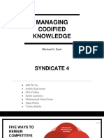Managing Codified Knowledge (Syndicate 4)