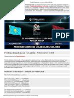 Prediksi Skor Kazakhstan vs Latvia