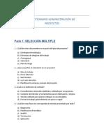 Primer Cuestionario Dirección de Proyectos