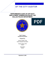 Dallas Police Audit 2005