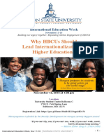 Why HBCUs Should Lead Internationalization of Higher Education?