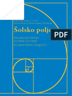 Šolsko polje, XXII, vol 1-2, 2012