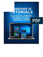 Windows 10 Tutorials - 120 of the Most Popular Functions
