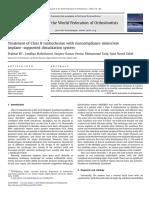 Tratamiento de Maloclusion Clase II Con Microtornillos