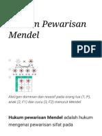 Hukum Pewarisan Mendel - Wikipedia Bahasa Indonesia, Ensiklopedia Bebas