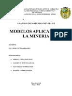 Analisis de Sistemas Mineros i 1