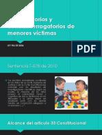 INTERROGATORIOS Y CONTRAINTERROGATORIOS A MENORES VÍCTIMAS