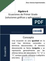 C6-Ecuaciones de Primer Grado (Soluciones Gráficas y Aplicaciones)