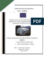 Validación Del Uso de Un Secador Solar de Café en Pergamino San Rafael Del Norte