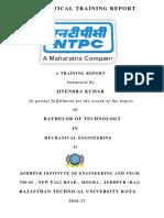Practical Training Report Jeet....New PDF