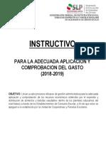 Instructivo Para La Aplicacion y Comprobacion Del Gasto