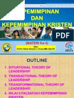 Materi Ke-5 Kepemimpinan Kristen Ukrida (1)