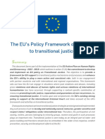 The Eus Policy Framework on Support to Transitional Justice