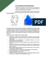 Sulfato de cobre pentahidratado