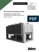 Air cooled scroll compressor