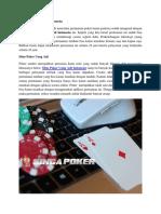 Situs Poker Uang Asli Indonesia