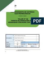 06 Puesta en Operación de Un Generador Síncrono Con Carga.