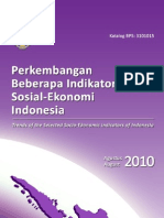 Socio Economic Statistic Indonesia Agt 2010