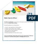 Watersports Officer (2)