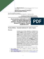 Uso de plantas medicinales en niños menores de 5 años con diarrea ingresados en el área de pediatría. Hospital Universitario Dr. Miguel Oraá. Guanare-Portuguesa. Período enero – septiembre 2017