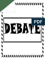 Debate Heading