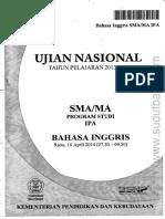 Bahasa Inggris SMA UN 2013-2014