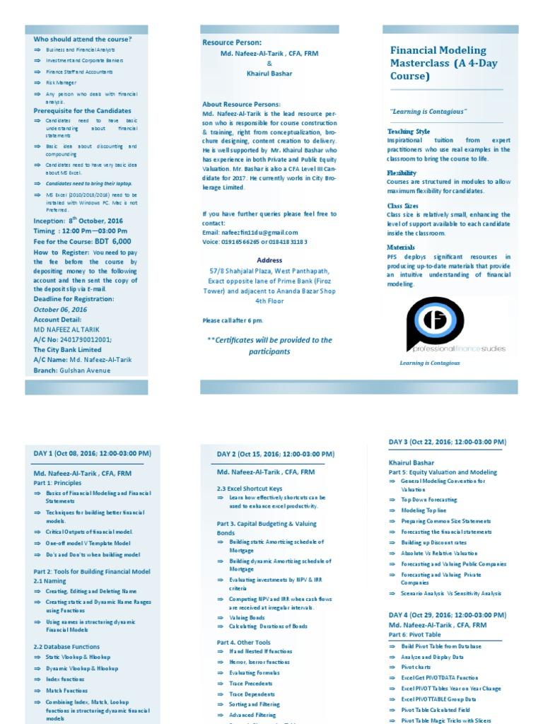 Financial Modeling Masterclass (1) | Financial Modeling