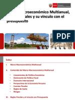 Marco Macroeconómico Multianual, Reglas Fiscales y su vinculo con el presupuesto